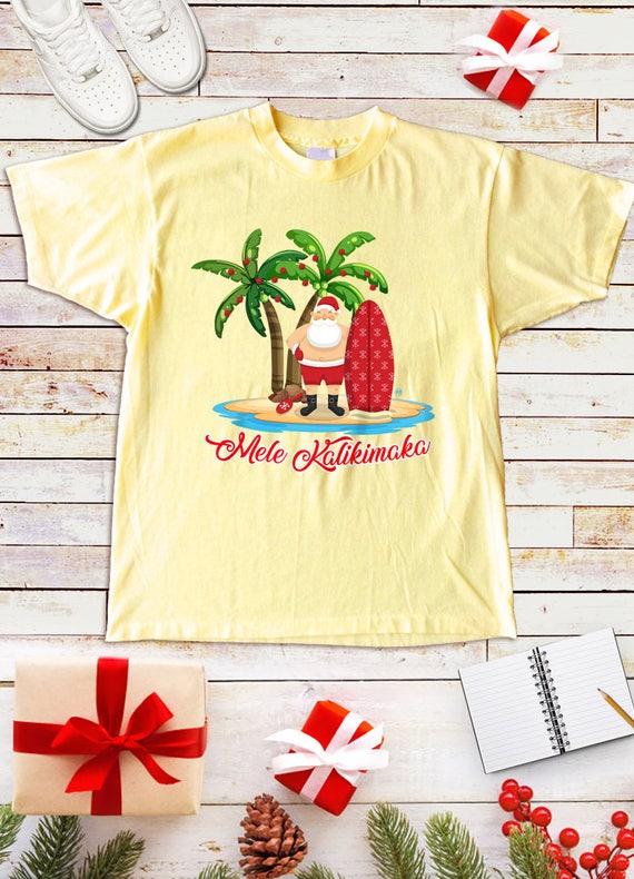Christmas Hawaiian Shirt Womens.Christmas Tshirt Mele Kalikimaka Hawaiian Shirt Christmas Card Hawaiian Chirstmas Tshirt Gift Gifts For Him Gifts For Her