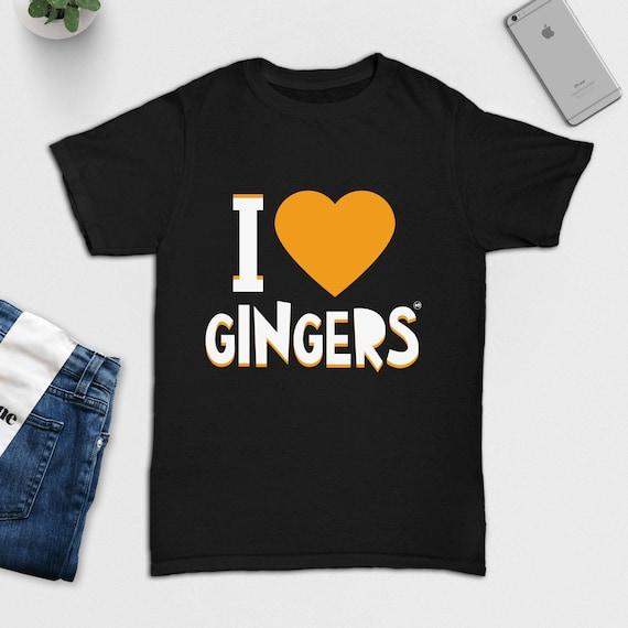 I Love Heart Ginger T-Shirt