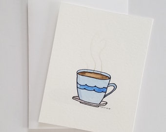 Coffee | Watercolor Painting | Original Painting | Not A Print | Free Shipping | On Sale
