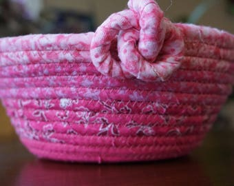 Fabric Coil Basket - Fabric Wrapped Basket