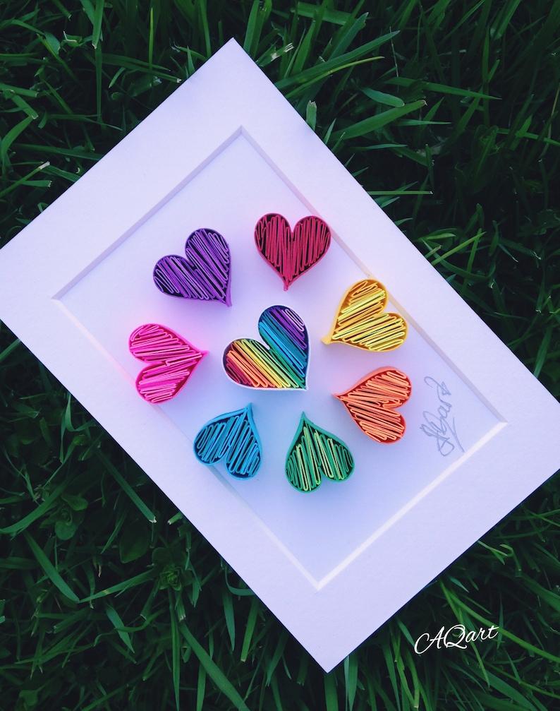 Quilled Paper Art 'Mini Tiny Hearts'Unique image 0