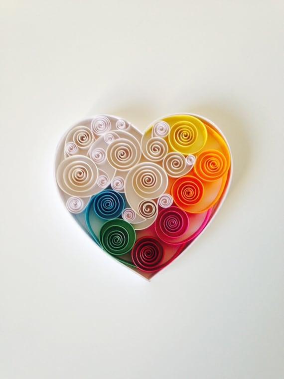 Quilling Art Love You Valentine S Gift Birthday Gift Etsy