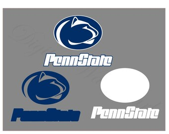 Penn State SVG & Studio 3 Cut File Cutouts Files Logo for Silhouette Cricut Decals SVGS Decal Sports Team Football University Nittany Lions