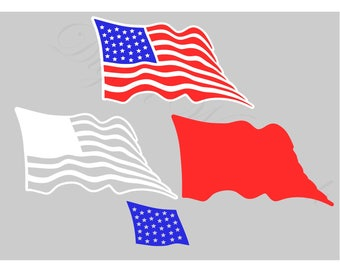 American Flag SVG and Studio 3 Cut File Cutouts Files Design Logo for Silhouette & Cricut Decal America SVGS Decals United States of Digital