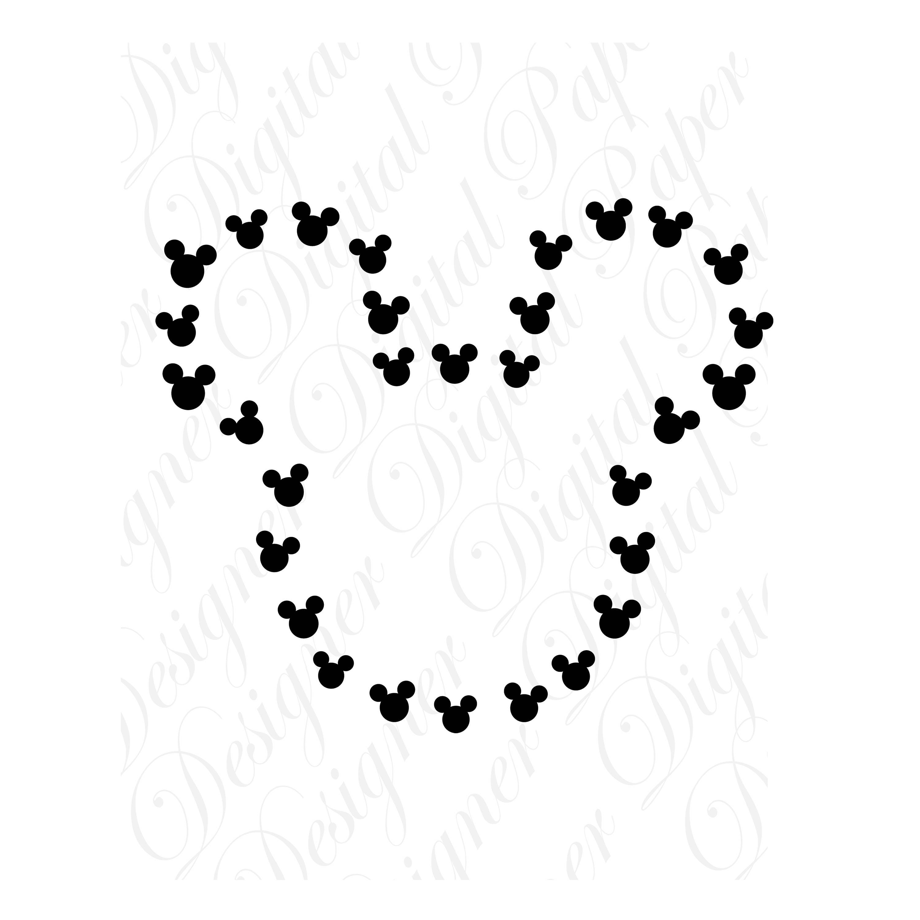 Mouse Silhouette Svg And Studio 3 Cut File Cutouts Files Etsy