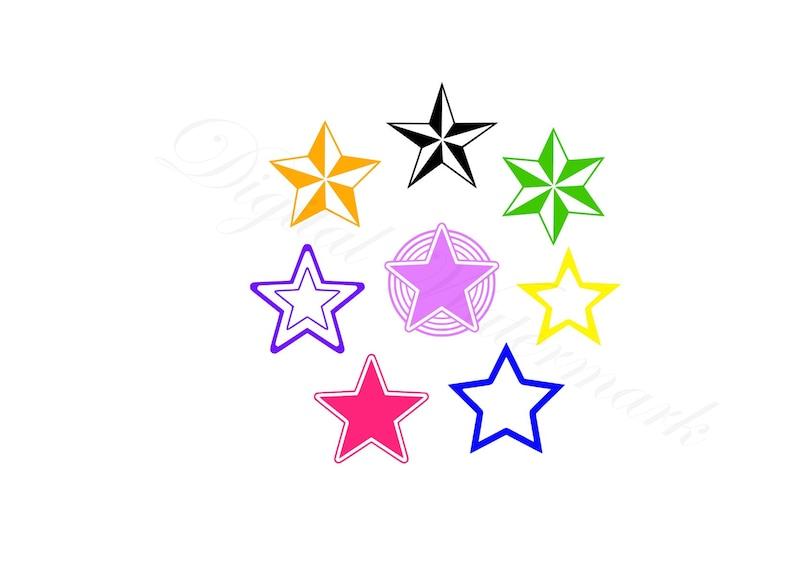 Star Shapes Svg Studio3 Cut File Stencils Design Stars For Etsy