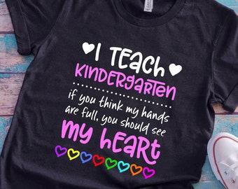 Kindergarten Teacher Shirt Etsy