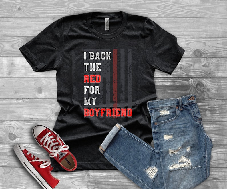 Teenagers Teen Boy I Love My Firefighter Daddy Printed Long Sleeve 100/% Cotton Clothes