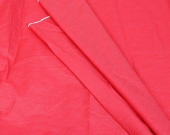 Pink Poly Denim Handloom Cotton Khadi Fabric-40110