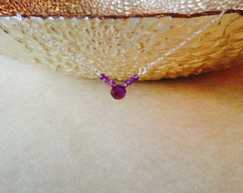 Amethyst necklace/ birthstone necklace/ February birthstone necklace/ gemstone necklace/ dainty amethyst necklace