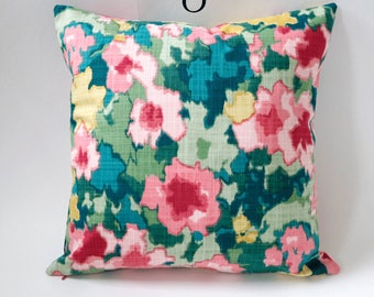 Garden Party Collection // Teal Decorative Throw Pillows // Teal Pillow Covers