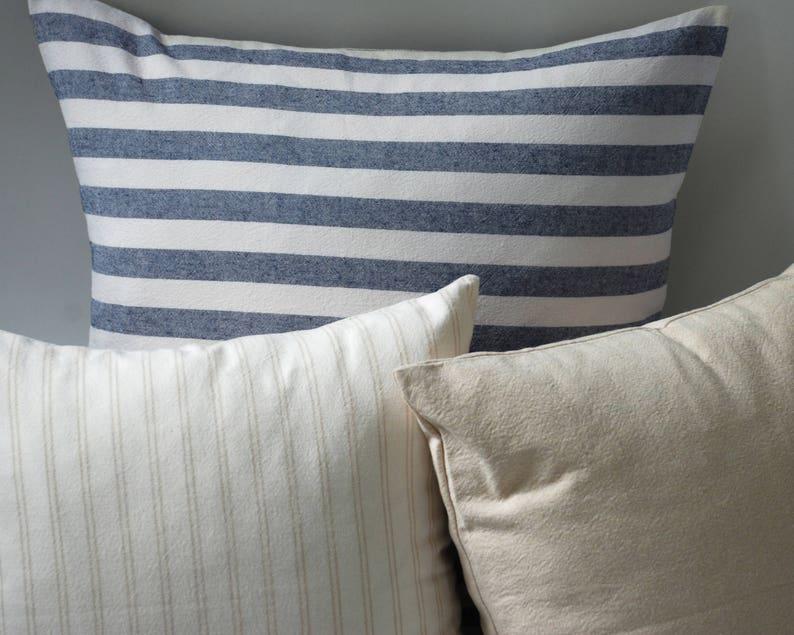 Marine Oatmeal Farmhouse Bedroom Decor Blue And White Etsy