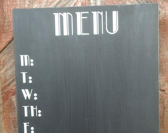 Menu chalkboard sign