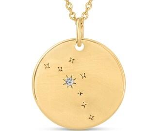 0a4ebd3e2 FREE SHIPPING Taurus Constellation Token Zodiac Necklace