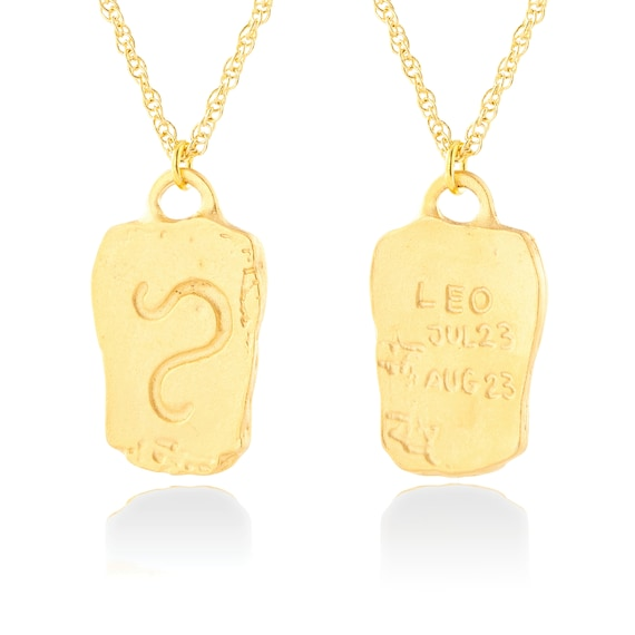31mm Virgo Charm Silver Yellow Plated Zodiac