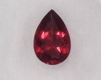 Red Almandine Garnet 1.54ct Natural Loose Pear Cut Faceted Gemstone