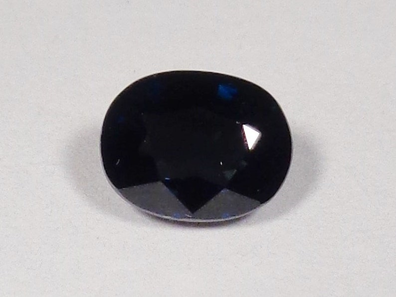 Sapphire Midnight Blue Green 1.11ct 6.5x5mm Natural Genuine Loose Stone Unheated Untreated Oval Cut Faceted Gemstone September Birthstone