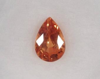 Spessartite / Spessartine Garnet 1.40ct Loose Natural Pear Cut Orange Faceted Gemstone