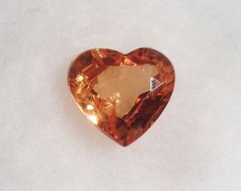 Orange Spessartite or Spessartine Garnet 1.22ct Natural Loose Stone Heart Cut Faceted Gemstone Mandarin