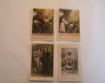 French 1920's Postcards Set of 4