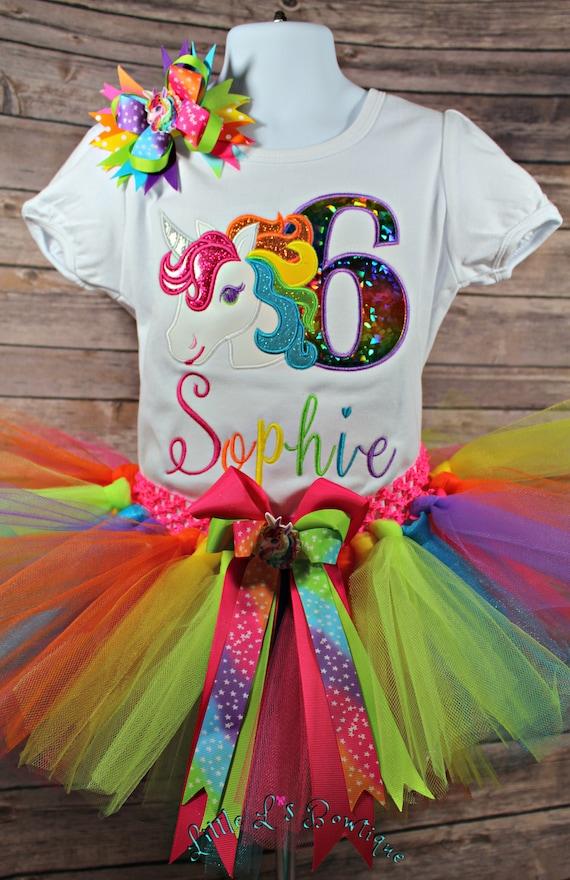 rainbow unicorn birthday outfit girlsrainbow unicorn