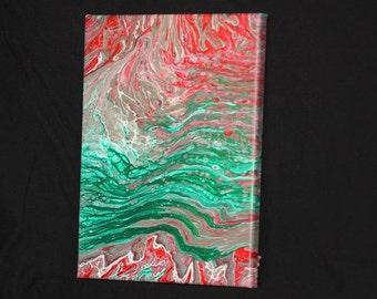 Mint Acrylic Pour Painting