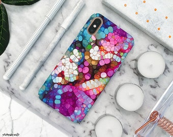 c34c57c2e0a Oil iPhone Case iPhone XS Max Case iPhone XS Case iPhone XR Case iPhone X  Case iPhone 8 Plus Case 8 Case 7 Plus 7 6S 6 Marble Blue Spectrum
