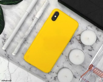 timeless design 3c327 cd05b Yellow iphone case | Etsy