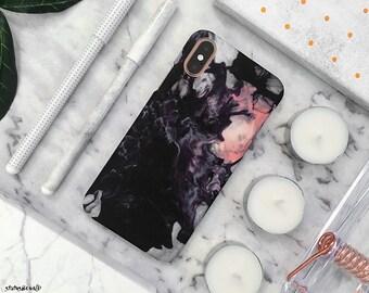 Oil iPhone Case iPhone XS Case iPhone X Case iPhone 8 Case iPhone 8 Plus Case iPhone 7 Case iPhone 7 Plus Case 6S Case 6S Plus SE Blue Pink