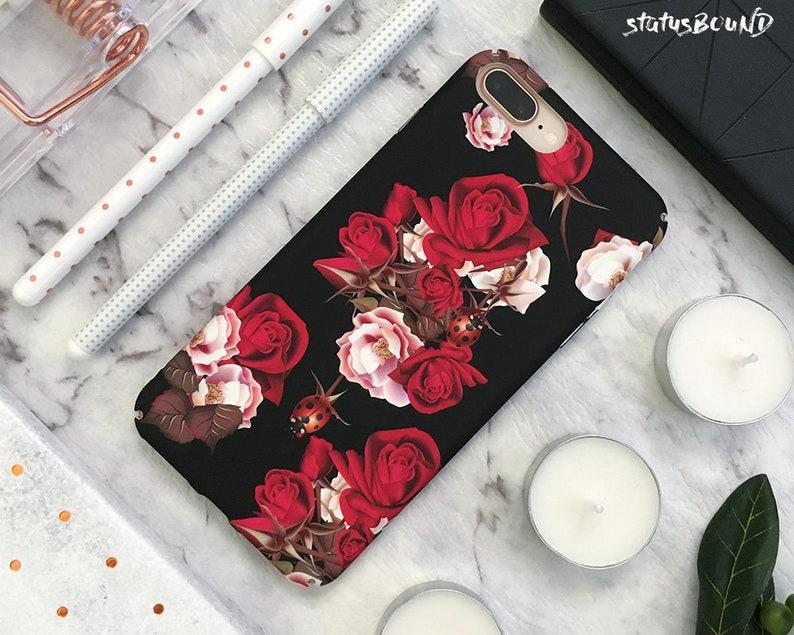 reputable site cbaa1 bbc53 Roses Flowers iPhone Case iPhone 8 Case iPhone 8 Plus Case iPhone 7 Case  iPhone 7 Plus Case iPhone 6S Case 6S Plus Floral ladybird ladybug