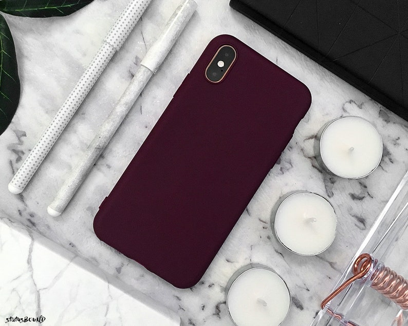 reputable site 80532 88408 Maroon iPhone Case iPhone XS Max Case iPhone XS Case iPhone XR Case iPhone  X Case iPhone 8 Plus Case iPhone 8 Case 7 Plus 7 6S 6 Silicone
