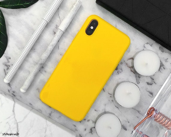 coque iphone xr max jaune