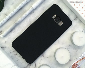 Rubber Samsung Galaxy Case Galaxy S9 Case Galaxy S9 Plus Case Galaxy S8 Case Galaxy S8 Plus Case note8 S8+ S9+ Note 8 Case Matte Black