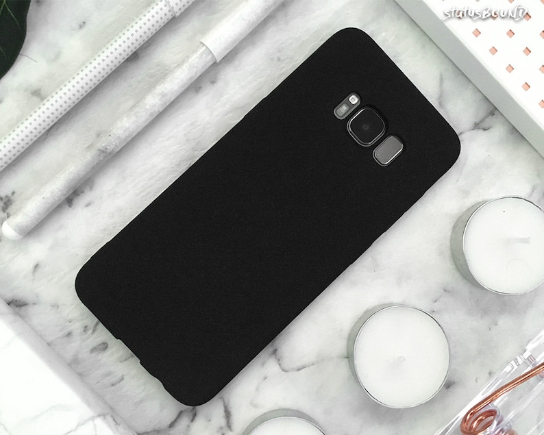 official photos 9f999 49b28 Rubber Samsung Galaxy Case Galaxy S9 Case Galaxy S9 Plus Case Galaxy S8  Case Galaxy S8 Plus Case note8 S8+ S9+ Note 8 Case Matte Black