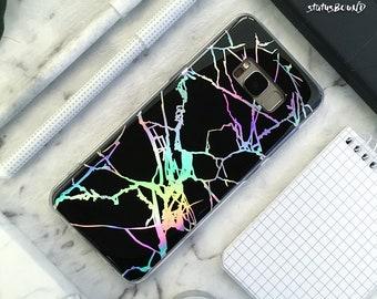 Marble Samsung Galaxy Case Galaxy S9 Case Galaxy S9 Plus Case S9+ Galaxy S8 Case Galaxy S8 Plus Case S8+ Case Galaxy Note 8 Case Laser Black
