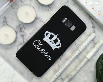 Queen Samsung Galaxy Case Galaxy Case Galaxy S8 Case Galaxy S8 Plus Case Galaxy S8+ Case Galaxy Note 8 Case Note8 Case Crown Black White