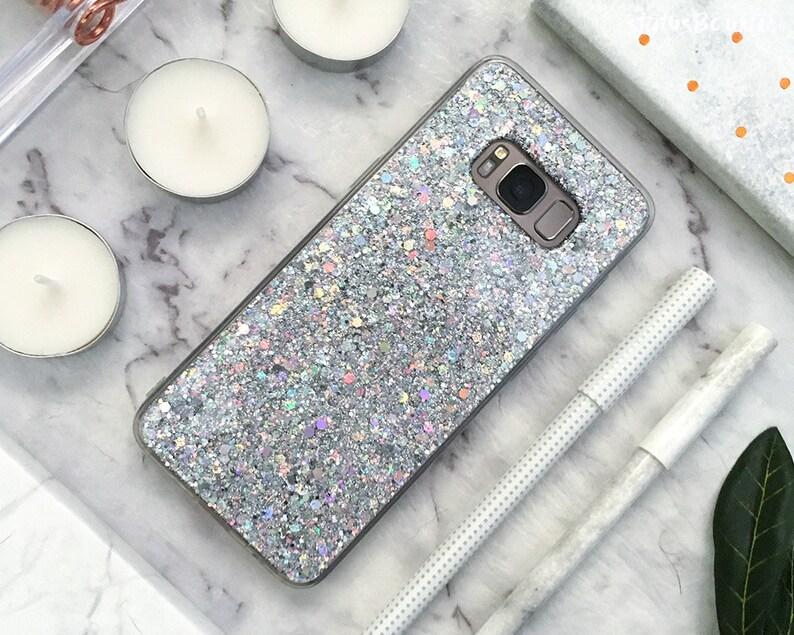various colors 2469a 0b99f Glitter Samsung Galaxy Case Galaxy S9 Case Galaxy S9 Plus Case S9+ Note 9  Galaxy S8 Case Galaxy S8 Plus Case S8+ Case Note 8 Case Silver