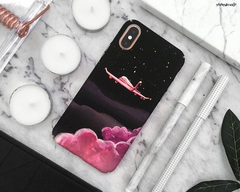 Plane iPhone Case iPhone XS Max Case iPhone XS Case iPhone XR Case iPhone X  Case iPhone 8 Plus Case iPhone 8 Case 7 Plus 7 6S 6 Clouds Art