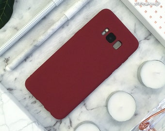 Rubber Samsung Galaxy Case Galaxy S9 Case Galaxy S9 Plus Case Galaxy S8 Case Galaxy S8 Plus Case note8 S8+ S9+ Note 8 Case Matte Maroon