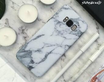Marble Samsung Galaxy Case Galaxy Case Galaxy S8 Case Grey Gray Hard Matte Samsung Galaxy S8 Case