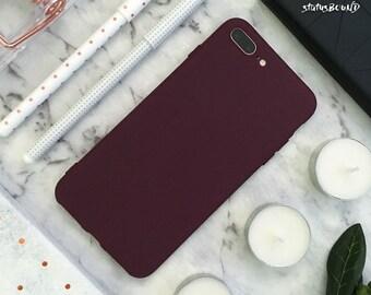 Maroon iPhone Case iPhone 8 Case iPhone 8 Plus Case iPhone 7 Case iPhone 7 Plus Case iPhone 6S Case iPhone 6S Plus Case iPhone 6 Silicone