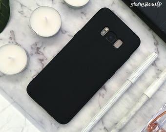 Silicone Samsung Galaxy Case Galaxy S9 Case Galaxy S9 Plus Case S9+ Galaxy S8 Case Galaxy S8 Plus Case S8+ Case Galaxy Note 8 Case Black