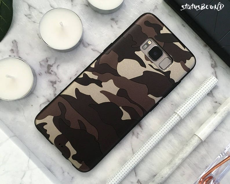 size 40 988f7 7fd98 Camouflage Samsung Galaxy Case Galaxy S9 Case Galaxy S9 Plus Case Galaxy S8  Case Galaxy S8 Plus Case Galaxy Note 8 Case Note8 Camo Brown