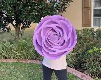 Flower Wall Art / Purple Giant Rose /Big Flowers /Photo Prop Flower Backdrop/Wedding Flowers /Baby Shower Centerpiece /Floral Display Window