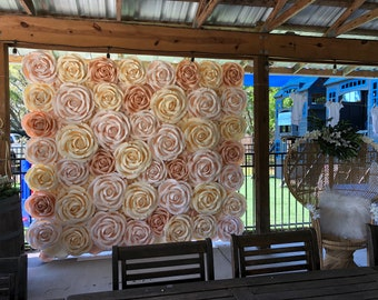 Flower Wall Backdrop in Tampa Bay FOR RENT/ BLUSH Flower Wall / Wedding Floral Backdrop /Photo Booth Event Decor / Flower Walls of Tampa