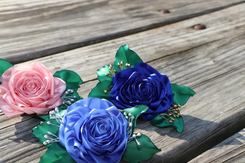 Flower Hair Clip Flower Woman Hair Pin Wedding pins Girl hair clips Blue hair clip Bridal pins Hair Band Floral Hair Accessories