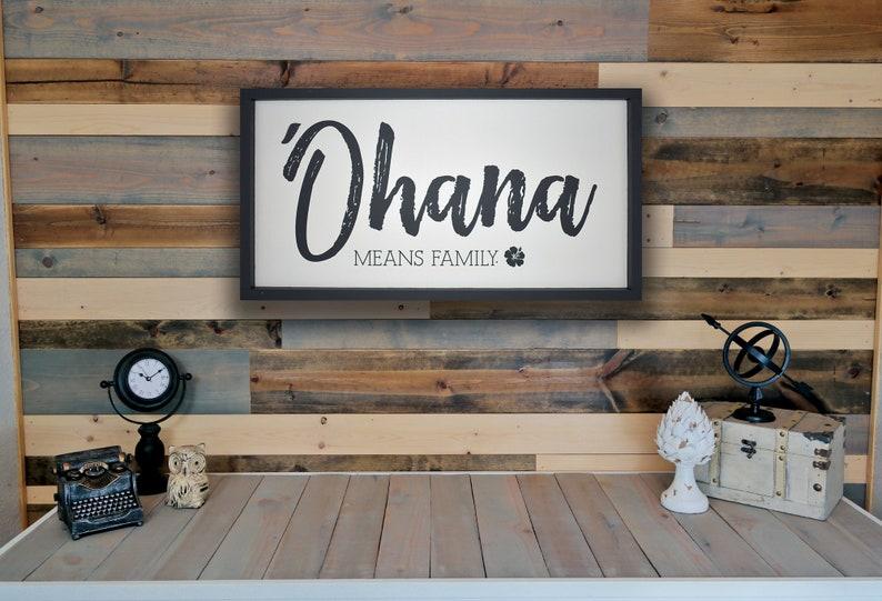 Disneyland /'Ohana Disney World Lilo and Stitch Family Disney Home Decor Sign Ohana