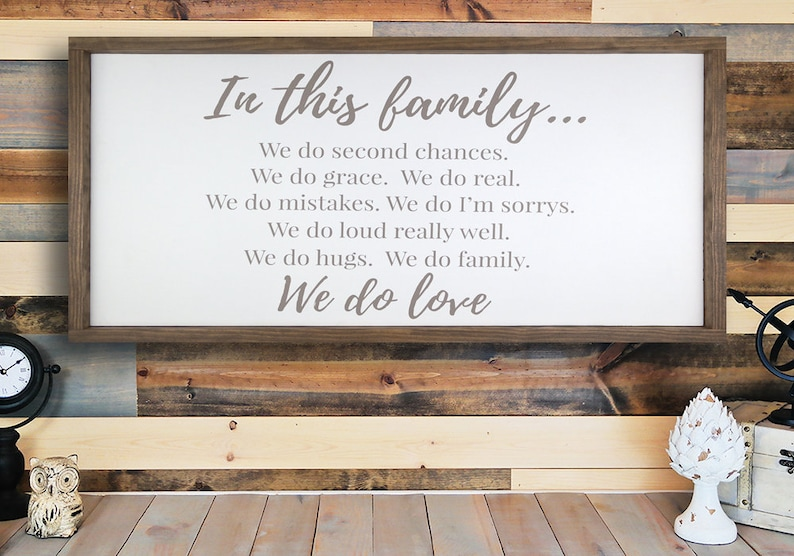 Wood Framed Signs With Quotes Sayings Family Home Etsy