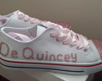 3150c9a5c8d8 Personalised Pumps. Wedding pumps. Wedding shoes. Sneakers. Trainers. Bride.