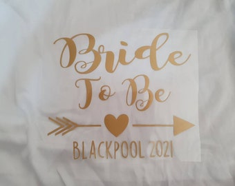 Personalised iron on transfers. Hen do, hen party.